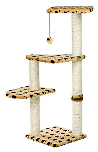 TRIXIE Pet Products Altea Cat Tree (Beige with paw prints) ()