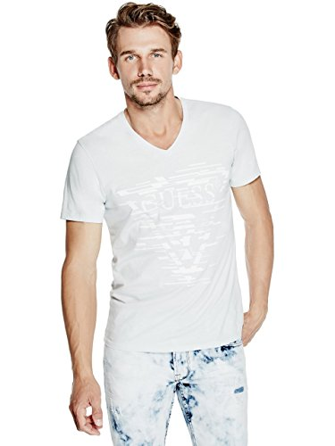 GUESS Men's Shifted Logo V-Neck - Men Guess Sale