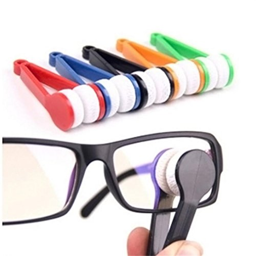 Putars Portable Multifunction Sun Glasses Eyeglass Microfiber Spectacles Cleaner Brush Cleaning - 80s Strap Sunglasses