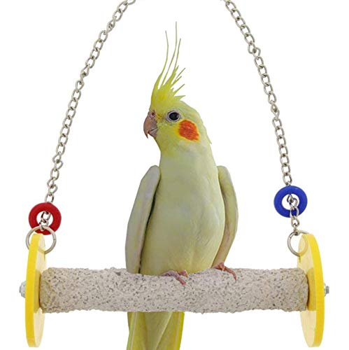 Sweet Feet and Beak Roll Swing and Perch for Birds, Keeps Nails and Beak in Top Condition and Stimulates Leg Muscles - Safe and Non-Toxic, For Cages - Various Colors and Sizes Available