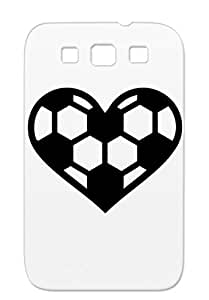 Soccer Heart Black Tearproof Sports Kick Soccer Love Sports Player Ball Football Case Cover For Sumsang Galaxy S3