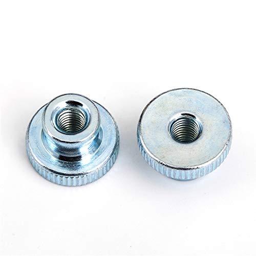 1Pcs-10Pcs DIN466 GB806 M3 M4 M5 M6 M8 M10 Galvanized Knurled Thumb Nut Hand Tighten Nut 3D Printers Parts Curtain Wall HW142 M4 (10PCS) ()