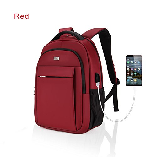 Travel Outdoor Computer Backpack Laptop bag 15.6''(red) - 8