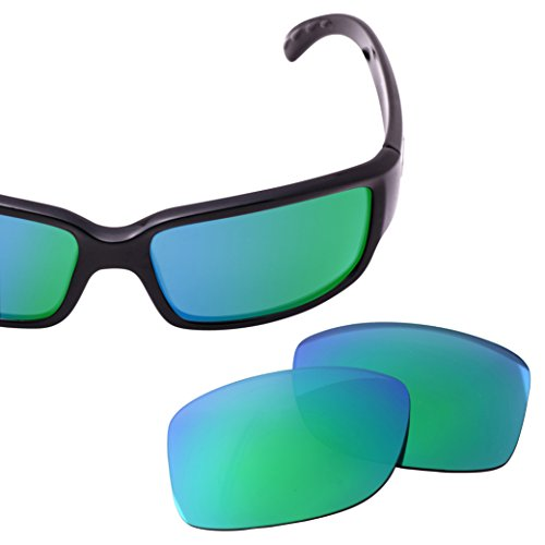 LenzFlip Replacement Lenses for Costa Del Mar CABALLITO Sunglass- Brown Polarized with Green Mirror