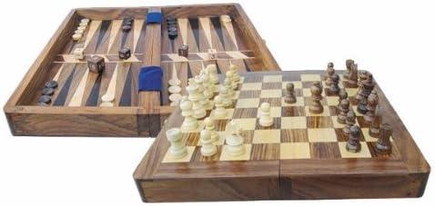 Ajedrez y backgammon en caja de madera: Amazon.es: Jardín