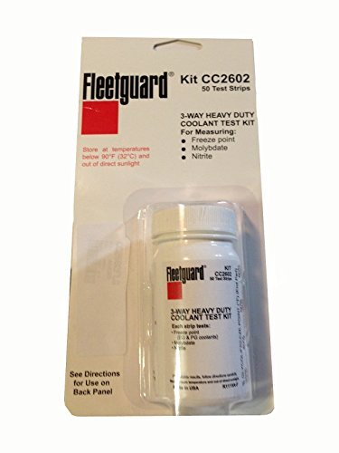 Fleetguard CC2602 Coolant Test Kit, 3-Way Test Strip, 50/bottle from Cummins Filtration