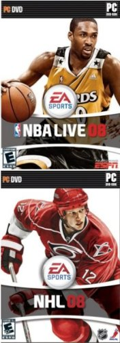 EA Sports 2 Pack: NBA Basketball Live 08 + NHL Hockey 2008