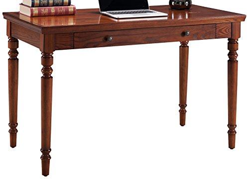 Leick 82410 Farmhouse Oak Turned Leg Laptop Desk with Center Drawer,