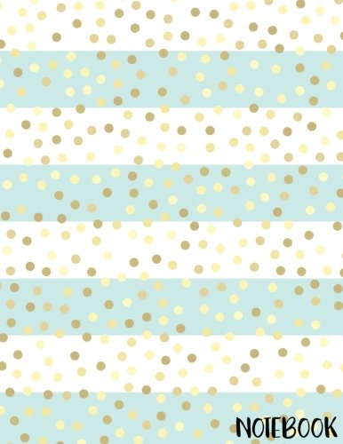 Notebook: Golden Glitter Polka Dot Notebook (Composition Book Journal) (8.5 x 11