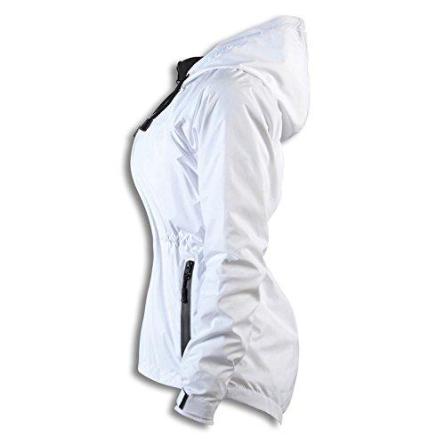 Cortavientos Color Qube Para Chaqueta Mujer Blanco Impermeable 6nn7BqA