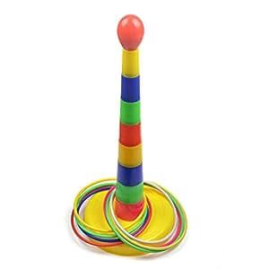 "Cosmos ® 18"" Colorful Plastic Sport Ring Toss Game Detachable Set (Color Random)"