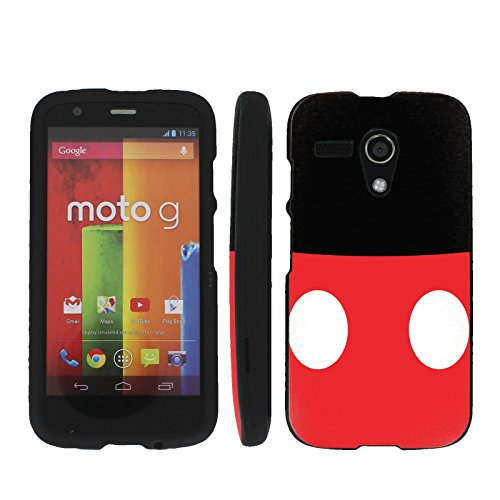 Baby Belly Mouse - Mobiflare Motorola Moto G (GSM 1st gen) Slim Guard Armor Black Phone Case