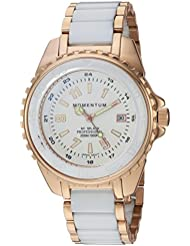 Momentum Womens Quartz Stainless Steel and Ceramic Diving Watch, Color:Rose Gold-Toned (Model: 1M-DN67WS0C)