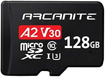 ARCANITE - Tarjeta de memoria microSDXC de 128 GB con adaptador, A2, UHS-I U3, V30, 4K, Clase 10, Micro SD (AKV30A2128)