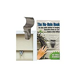 "No-Hole Hooks Vinyl Siding Hangers - Low Profile- 4PK 3 <p>The No-Hole Hook is the perfect solution for adding decorations to the vinyl siding on your home or business. Simple to use, you just roll the hook into any seam in the vinyl siding. The hook is stainless steel so it won't rust or stain the siding. The No-Hole Hook is available in 2 styles, this one is called Low Profile and has a slight bend in the design. There are 2 hooks per package. Hooks are approximately 1-1/2"". Each holds up to 5-6 lbs. Stainless Steel Simple to use, easy to remove and relocate Preserve your vinyl siding</p>"