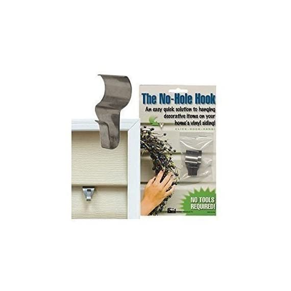 No-Hole Hooks Vinyl Siding Hangers - Low Profile 1 Stainless Steel Simple to use, easy to remove and relocate Preserve your vinyl siding