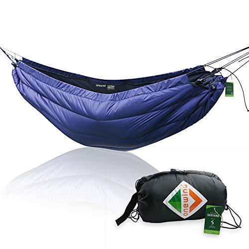 onewind Hammock Underquilt Lightweight Sleeping Bag Portable Camping Hiking Quilt Warm Blanket Essential for Hammock (32-50 Degrees Fahrenheit)