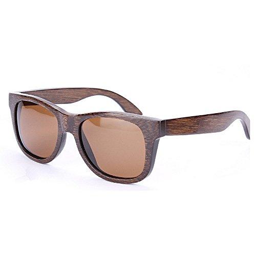 en Marron lunettes environnement Rétro main soleil la pour polarisées soleil UV printemps conduite de lunettes de lunettes lunettes charnière plage de cadre bambou protection hommes de Rétro à soleil soleil S11qnxrwCI