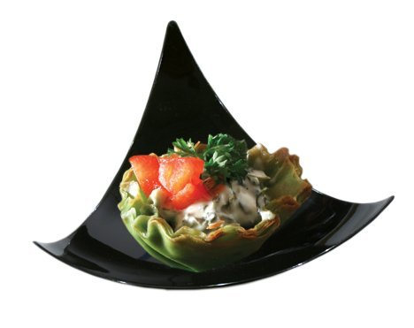 100 Black Plastic Mini Triangle Dessert Plates 100 Shooting Star Mini Appetizer Plates Small Cocktail Party Plates Sushi pie Tasting Plates Sample Plates ...