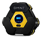 #3: OMNI Portable UPGRADED Air Compressor Pump, BEST Portable Auto Tire Inflator, Bright LCD Display, Built-In LED Light, 12V 150 PSI Tire Pump for Cars and Inflatables, Automatic Shutoff, 1-YEAR WARRANTY