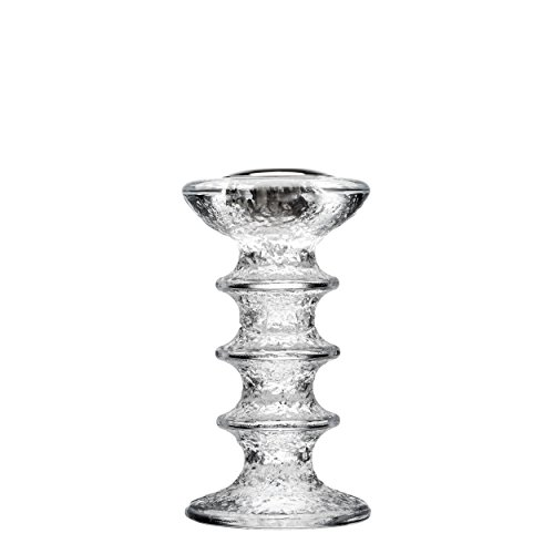 iittala Festivo Candle Stand, Candlestick, Candles Holder, Glass, 15 cm, 1023746