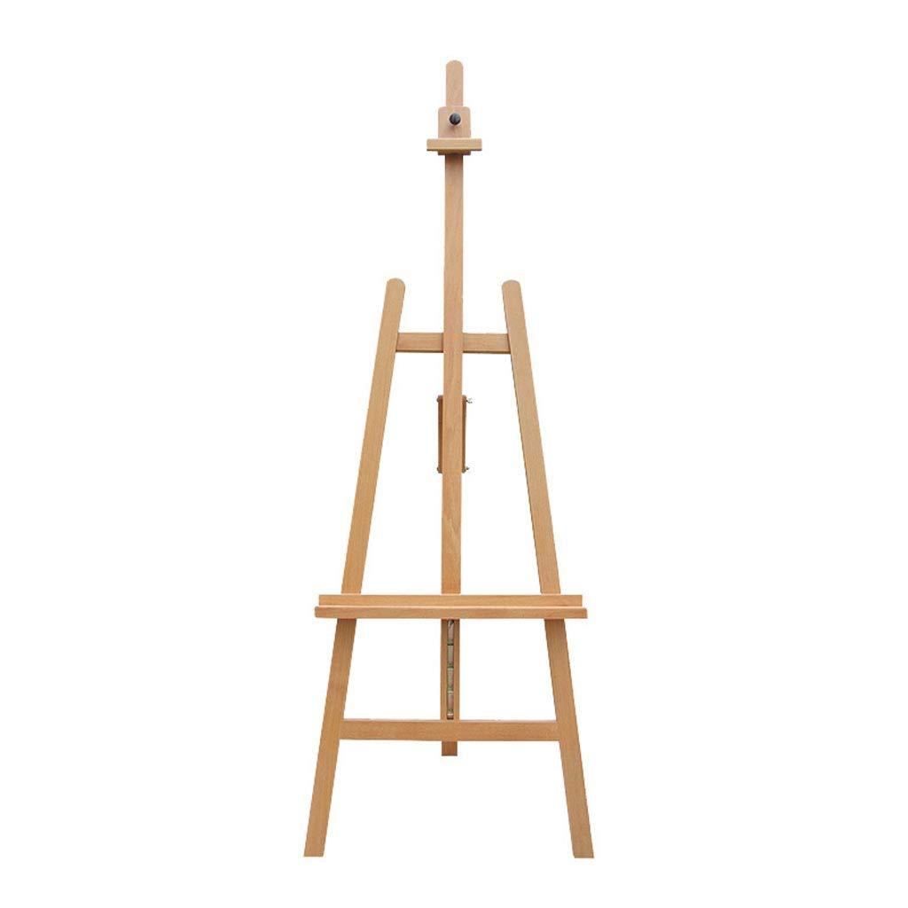ALUP- アーティストイーゼル、輸入木製ホワイトレイズリフトバックサポートイーゼル、木製学生スタジオスケッチフレーム、ディスプレイスタンド (色 : 木の色)  木の色 B07L88HW1Q