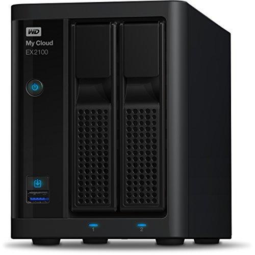 Western Digital 8TB My Cloud EX2100 Expert Series 2-Bay NAS Festplatte - LAN - WDBWAZ0080JBK-EESN