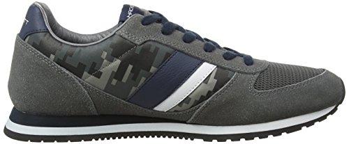 Hackett London Sutton Street Sneaker, Zapatillas para Hombre 9BFGREY/NAVY