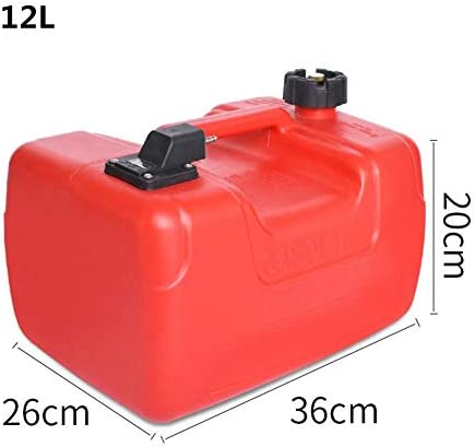 12Lプラスチック製燃料タンクガソリン貯蔵容器静電気防止船外機タンク用ヤマハボート車のトラック+オイルパイプ (Color Name : 12L)