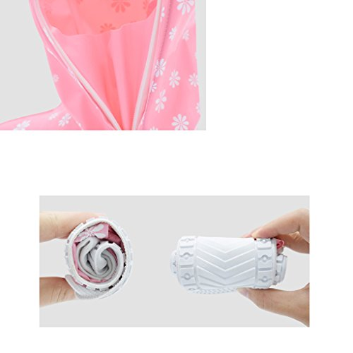 Pink And resistant 3 Pair Shoes Girls Rainproof Slip Boys Rain Waterproof Children's A Cover Pack For Sandproof FUxZZ1