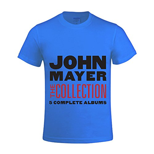 John Mayer The Collection Men Shirts Round Neck Vintage Blue