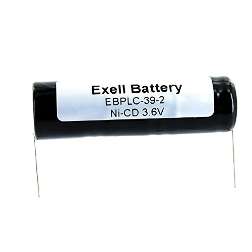3.6V Exell EBPLC-39-2 Ni-CD PLC Computer Backup Battery Fits and Replaces Telemecanique TSX47411 PLC CPU, 1970 Bally Super Continental Slot Machine, Furumo FM8500 VHF Radio, Alpha Micro AM1000 by Exell Battery
