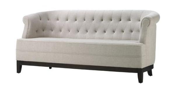 Amazon Com Home Decorators Collection Emma Textured Natural Sofa