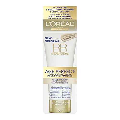 L'Oreal Paris Age Perfect BB Cream Instant Radiance, 2.5 Fluid Ounce
