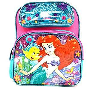 Disney The Little Mermaid Ariel 12 inch Pink Small School Backpack]()