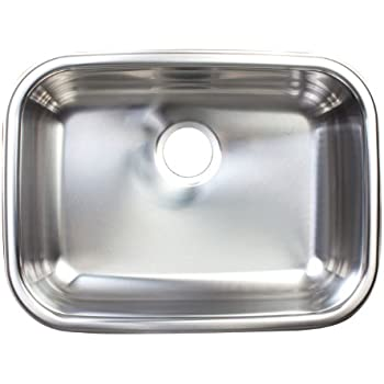 Kindred FSUG900-18BX Single-Bowl Under Mount Kitchen Sink, Stainless Steel