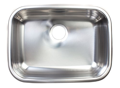 Kindred FSUG900-18BX Single-Bowl Under Mount Kitchen Sink, Stainless Steel