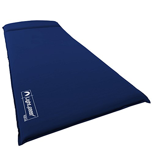 Lightspeed Outdoors XL Super Plush FlexForm Self-Inflating Sleep and Camp Pad, Dark Blue