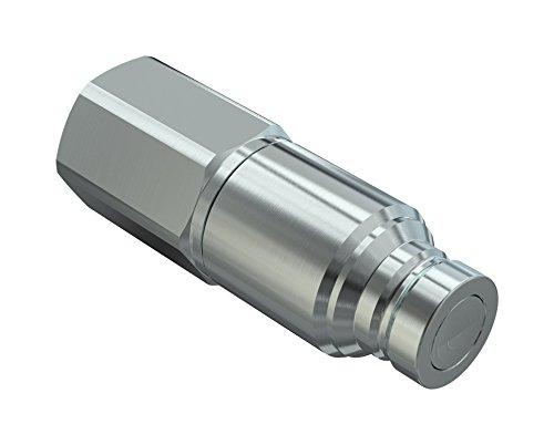 Poppet Style Faster Coupling 2NV 12 NPT M ISO A Steel Male 1//2 x 1//2 NPT