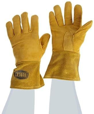 IRONCAT 6030 Premium Top Grain Reverse Deerskin Leather MIG Welding Gloves, Insulated Back, 1 Pair