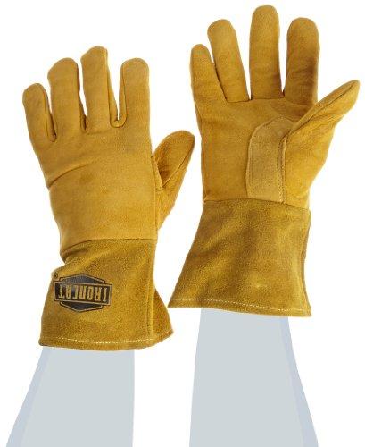 IRONCAT 6030 Premium Top Grain Reverse Deerskin Leather MIG Welding Gloves: Insulated Back, Medium, 1 Pair Westchester Premium Grain Leather