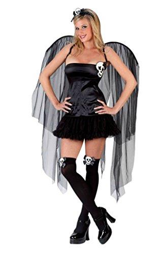 Funworld Womens Gothic Skull Fairy Theme Party Fancy Dress Halloween Costume, S/M (Skull Fairy Halloween Costume)