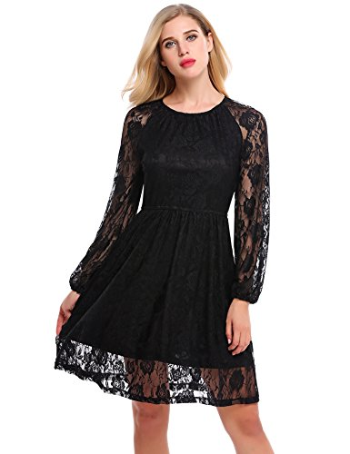 Buy black lace dress by laundry - 3