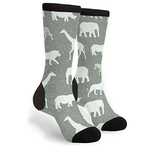 (Safari Animals Sage Novelty Socks For Women & Men One Size - Gifts )