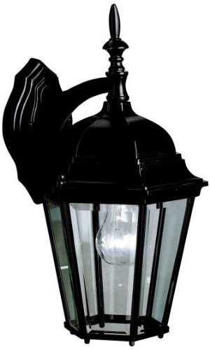 Kichler 9655BK Madison Outdoor Wall 1-Light, Black - Kichler Green