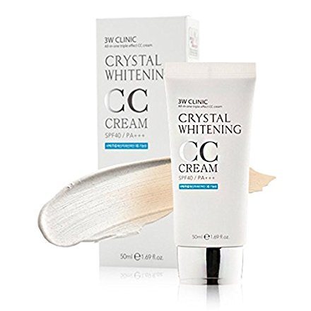 3W CLINIC Crystal Whitening CC Cream SPF 50 PA+++ No.2 Natural - Crystal Cream