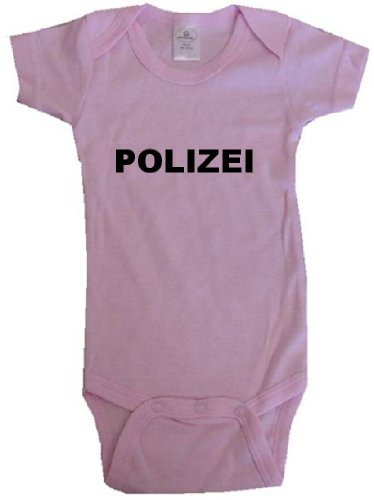 POLIZEI - Law Enforcement Gear - BigBoyMusic Baby Designs - Pink Baby One Piece Bodysuit - size Newborn (0-6M)