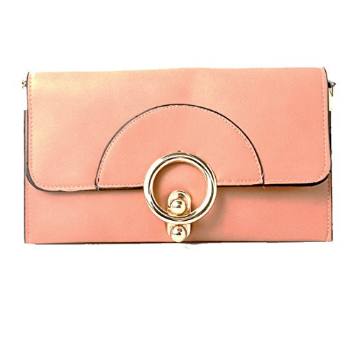 Peach Envelope Clutch Bag...