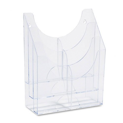 Rubbermaid : Optimizers Multipurpose Six-Pocket Plastic Literature Display Rack, Clear -:- Sold as 2 Packs of - 1 - / - Total of 2 Each