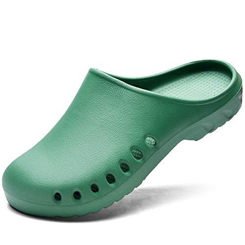 Quseek Unisex Garden Clogs Shoes Sandals Beach Footwear Water Nursing Slippers US5.5-14